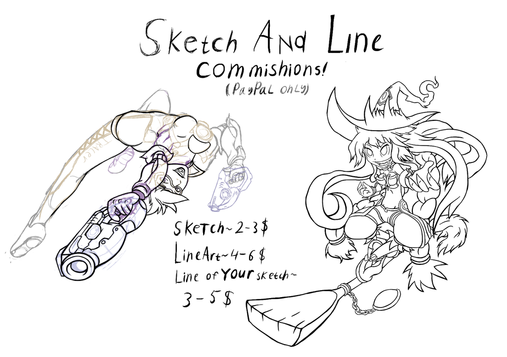 Sketch and LineArt Commishions! by TwisterTH