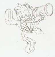 Amy striking SSBU Sonic Pose