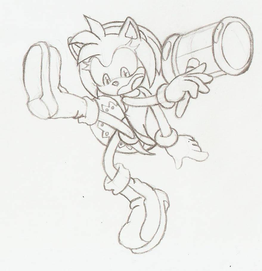 Amy striking SSBU Sonic Pose by TwisterTH