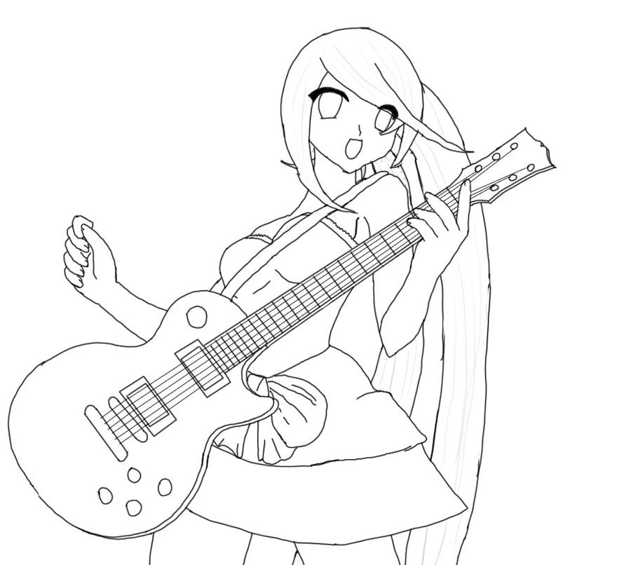 Girl With Guitar Sketch -WIP- By Ganoderma On DeviantArt