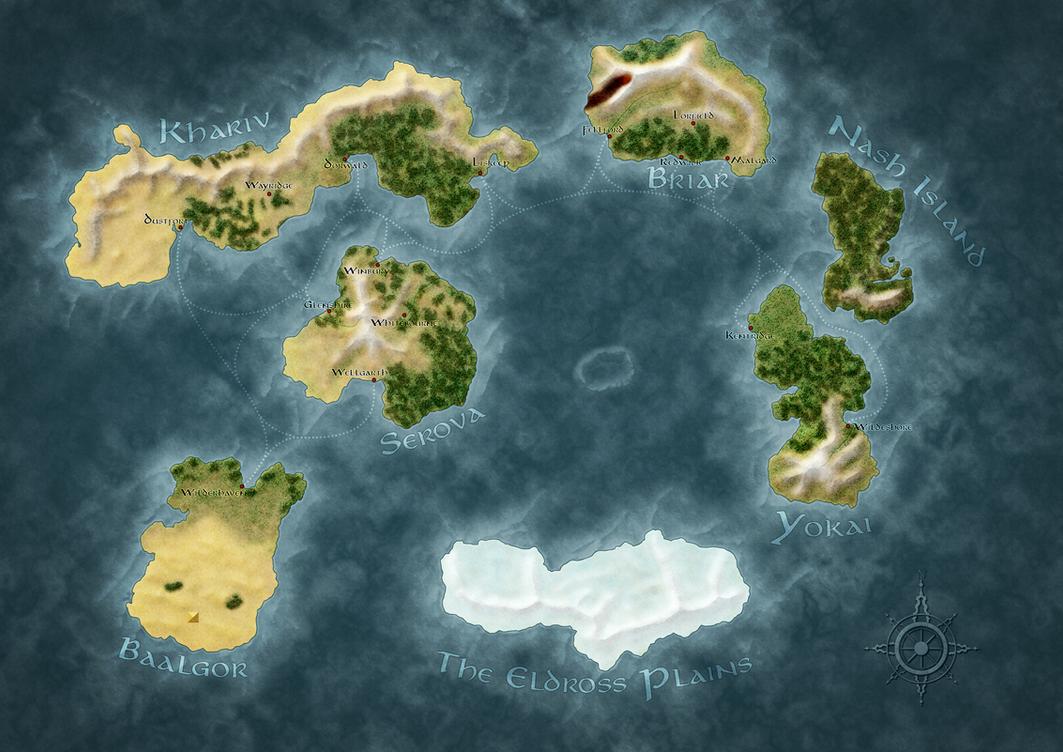 Fantasy World Map by ganoderma on DeviantArt