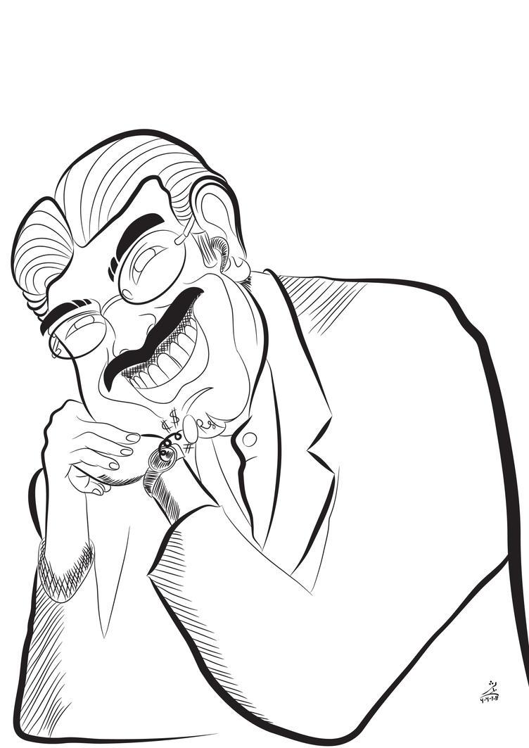 Asif Ali Zardari .. line art by kalabadi-hallaj