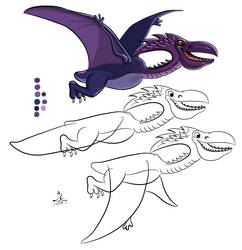 Pteradactyl concept art colored