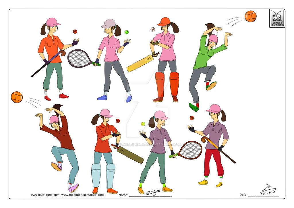 Sporty Character by kalabadi-hallaj