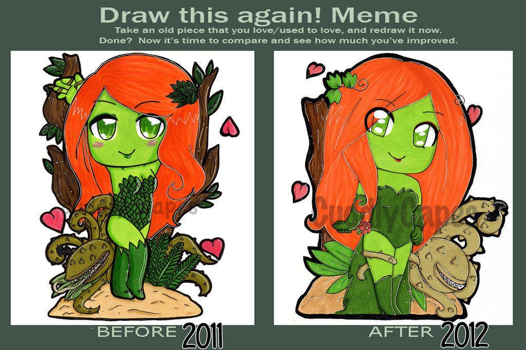 Draw it again meme - Poision Ivy by CuddlyCapes