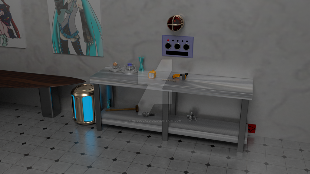 Kitbash Project Bench view full by MNSVocaloid
