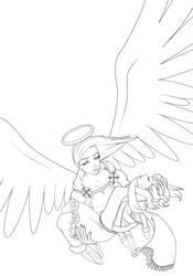 Savior-line art by DigiAvalon