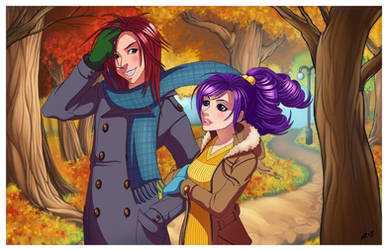 Walk though the Park by DigiAvalon