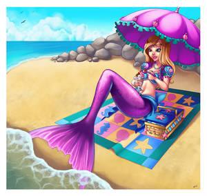 Purple Mermaid and Ice Cream