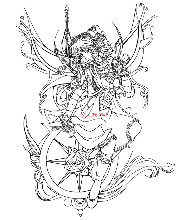 Line Art Rose : Compass rose line art by digiavalon on deviantart