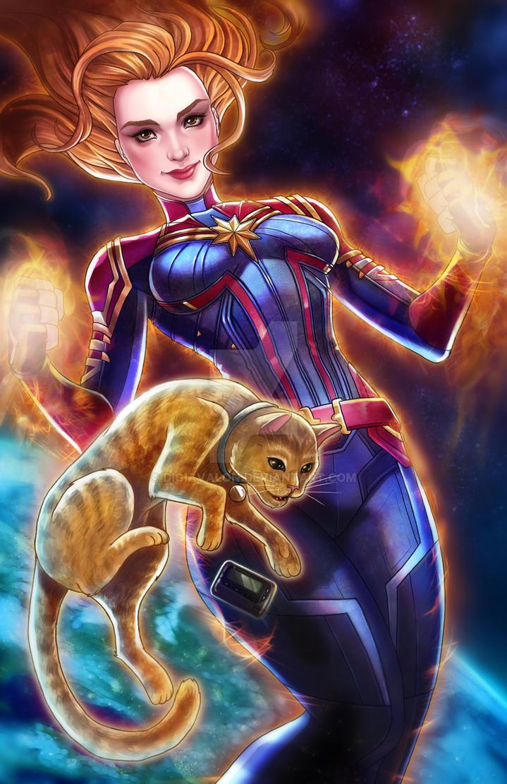 Captain Marvel by DigiAvalon