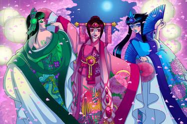 RGB Kimono's and Blossoms by DigiAvalon