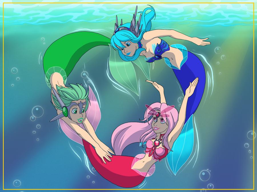 RGB Little Mermaids by DigiAvalon