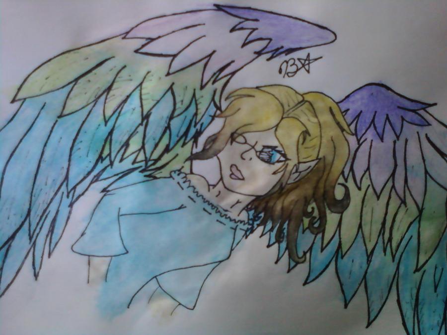 Rainbow Wings by moonferret05