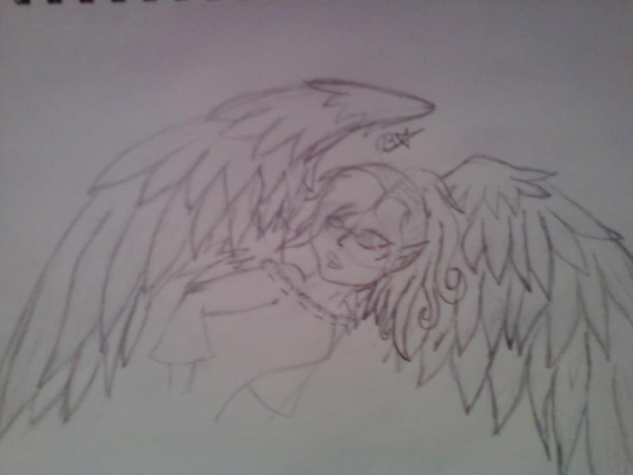 being sketch of Rainbow wings by moonferret05