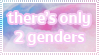 There's only 2 genders stamp