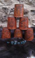 GOT leather dice cups