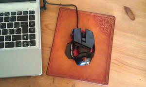 leather mouse pad celtic knot