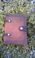 Leather grimoire runic voluspa