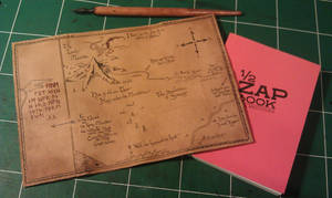 notebook leather cover : tolkien the hobbit map