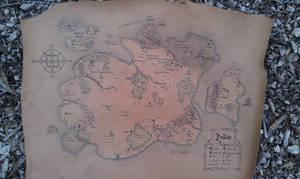 Leather Map for LARP - carte GN sur cuir