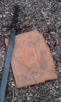 Leather Map for LARP - carte GN sur cuir Helios