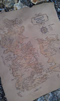 Game of Throne leather map Westeros carte sur cuir