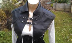 Aveline de grandpre col cuir leather cloak