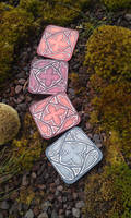 Leather coasters stained glass sous verre vitrail
