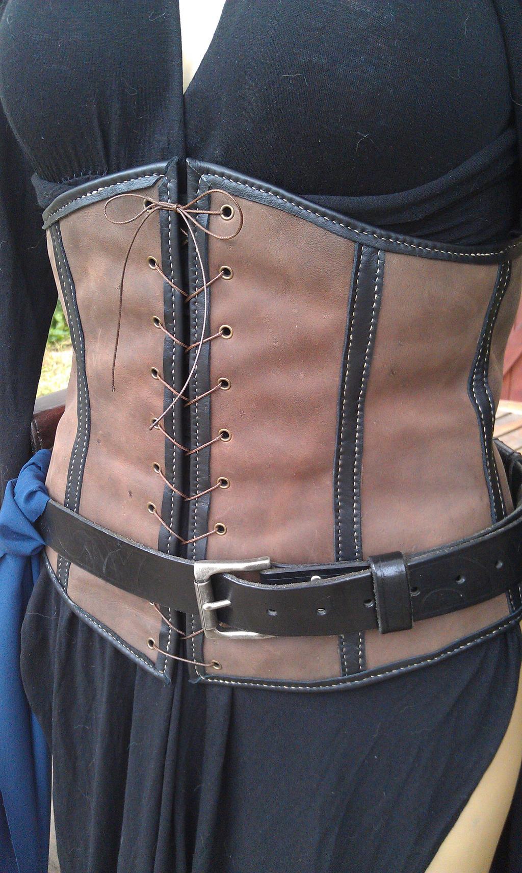 underbust leather corset serre taille cuir larp by balmoraleathercraft on deviantart. Black Bedroom Furniture Sets. Home Design Ideas