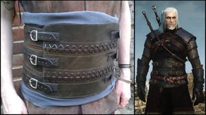 witcher 3 leather belly armor pansiere cuir geralt