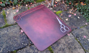 Leather mousepad embroidery stitching