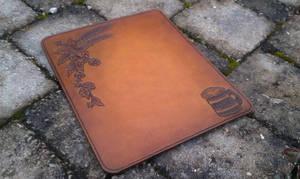 leather mousepad hop and wheat bear tankard