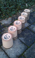 leather dice cups birth gift idea