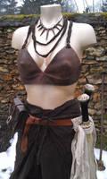 amazon LARP outfit leather bra