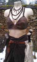 amazon LARP outfit leather bra by BalmoraLeathercraft