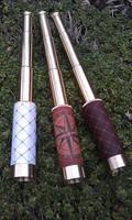 Brass monoscope spyglass for LARP or navigation by BalmoraLeathercraft