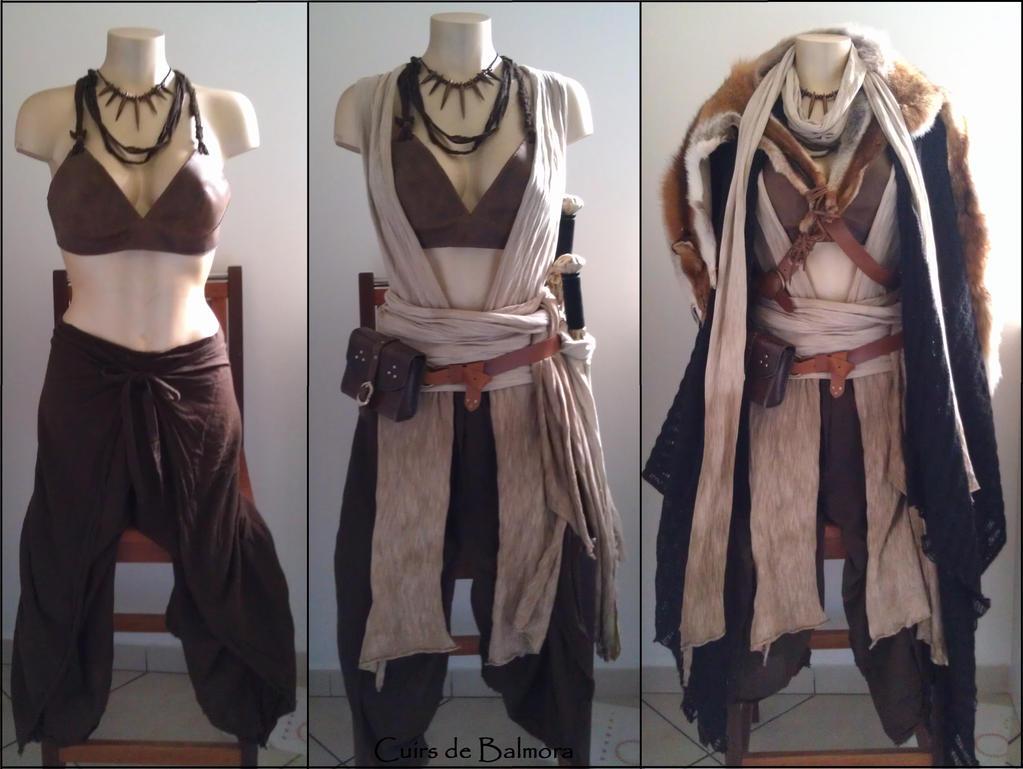 Layering LARP outfit Amazon costume by BalmoraLeathercraft