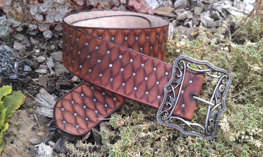 pirate leather belt - ceinture pirate large