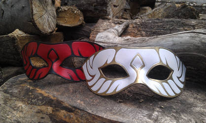 leather masks masques cuir by BalmoraLeathercraft
