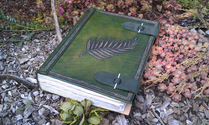 wiccania huge grimoire spellbook by BalmoraLeathercraft
