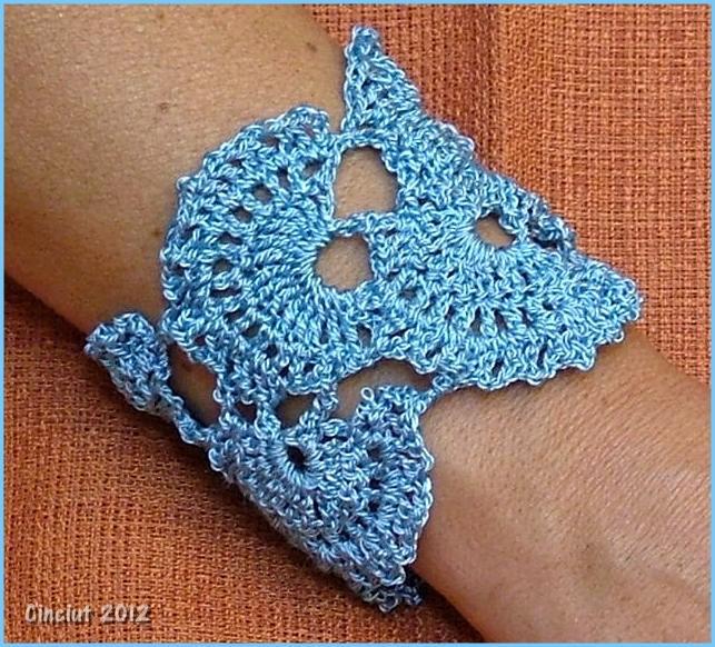 Crochet Flower Bracelet Pattern Free
