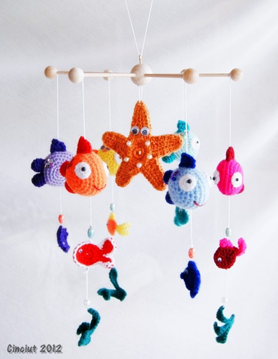 fish baby mobile by cinciut on deviantart