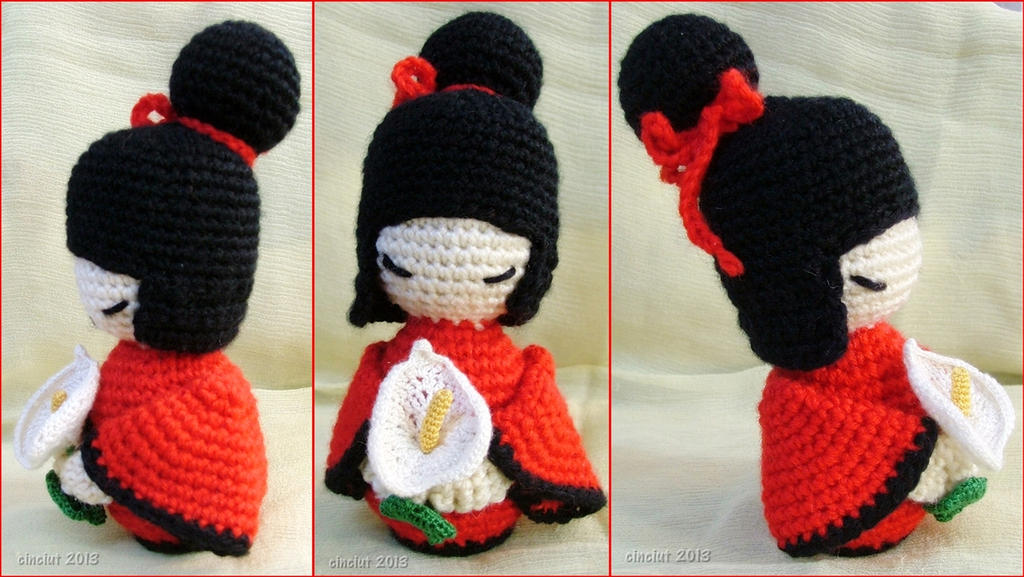 Kokeshi Amigurumi doll by Cinciut on DeviantArt