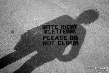 Pleaso Do Not Climb by Leitman