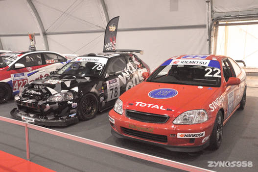 Civic Hatch and Coupe race car