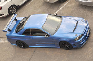 Blue R34 from the top