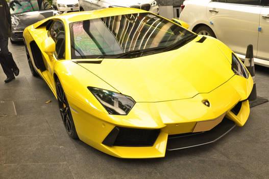 Fast and loud Yellow Italian Bull