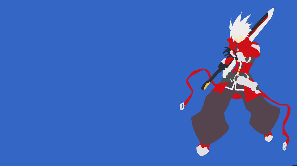 Blazblue ragna minimalist wallpaper by mynameisdefault for Deviantart minimal wallpaper