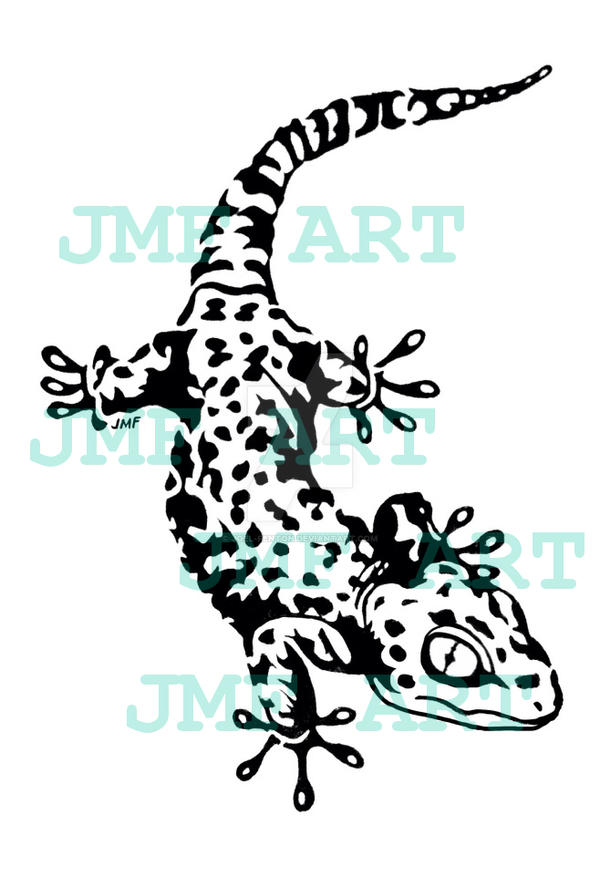 tokay gecko tribal tattoo design by joel fenton on deviantart. Black Bedroom Furniture Sets. Home Design Ideas
